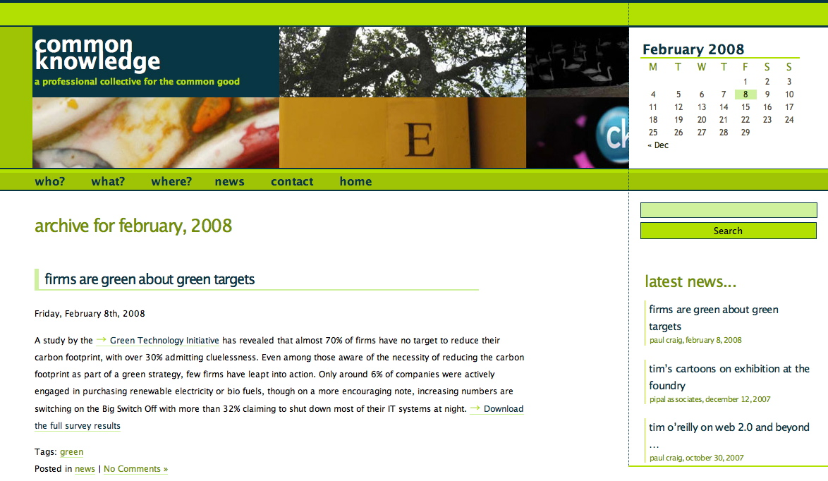 commonKnowledge website - new design proposal