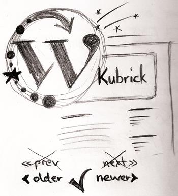 kubrick theme sketch